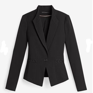 WHBM 6 Lace Up Detail Seasonless Black Jacket